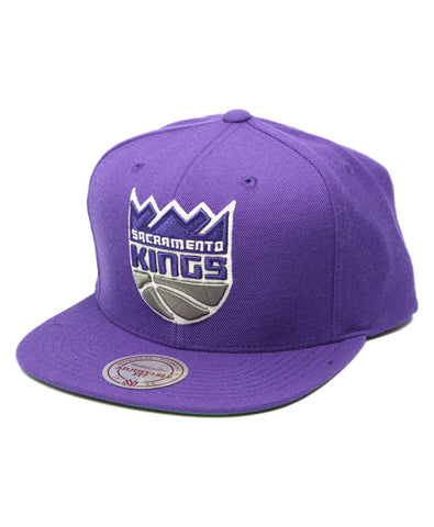 NBA Mitchell & Ness Sacramento Kings Snapback Wordmark Purple