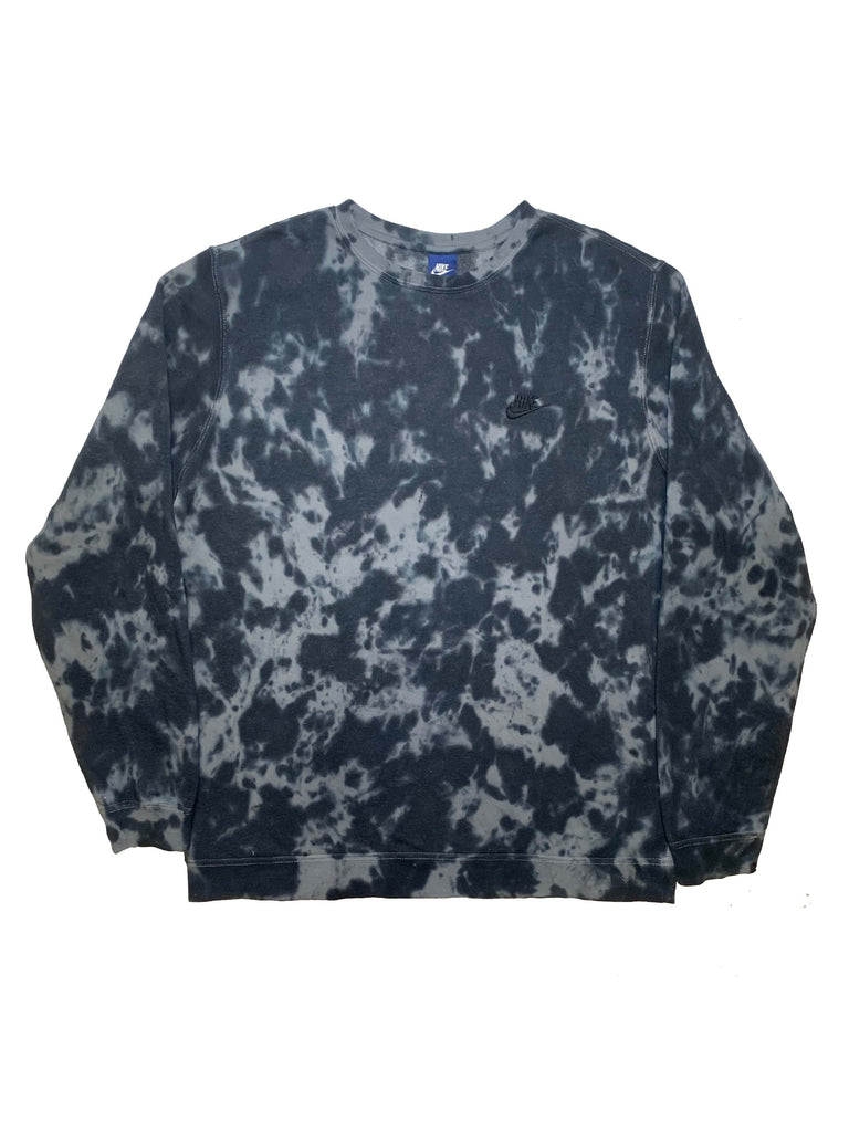 "Nike X Jeffersons Custom Tonal Tie Dye Washed Crewneck ""BLACK"""