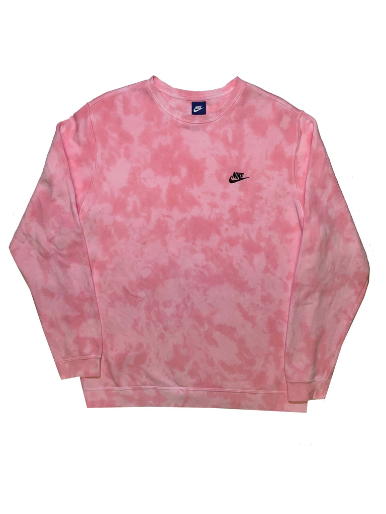 "Nike X Jeffersons Custom Tonal Tie Dye Washed Crewneck ""BUBBLE GUM"""