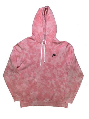 "Nike X Jeffersons Custom Tonal Tie Dye Washed Hoodie ""BUBBLE GUM"""
