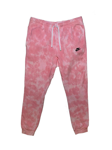 "Nike X Jeffersons Custom Tonal Tie Dye Washed Jogger Sweatpant ""BUBBLE GUM"""