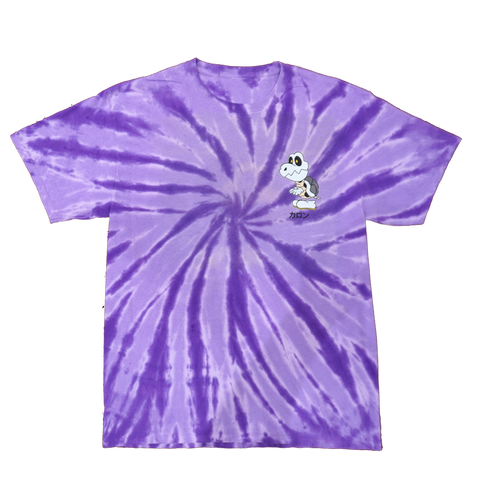 "Bones ""Purple Rainbow"" Tie Dye Tee"