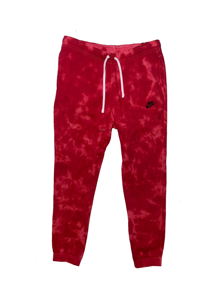 "Nike X Jeffersons Custom Tonal Tie Dye Washed Jogger Sweatpant ""CARMINE RED"""