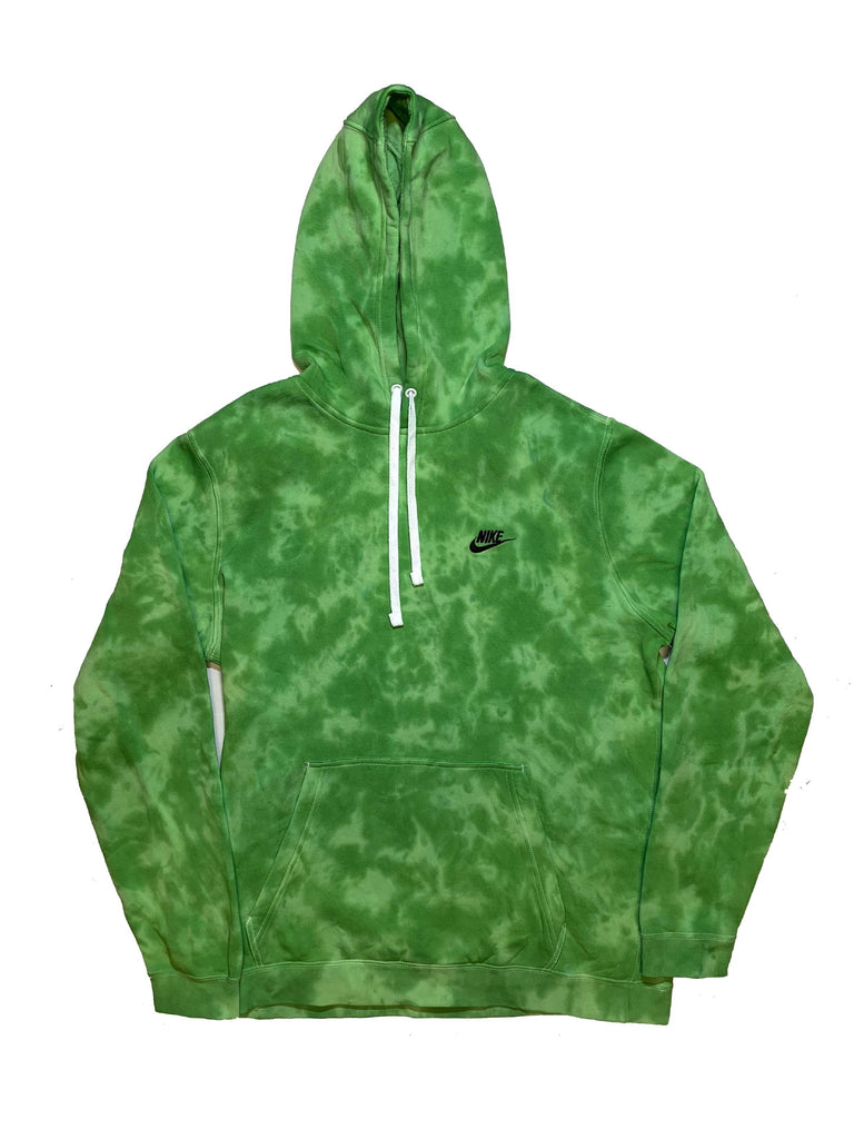 "Nike X Jeffersons Custom Tonal Tie Dye Washed Hoodie ""SLIME GREEN"""