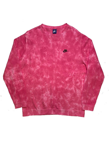 "Nike X Jeffersons Custom Tonal Tie Dye Washed Crewneck ""HOT PINK"""
