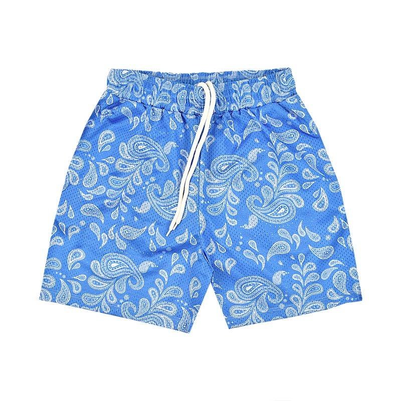 """PAISLEY"" Mesh Shorts in Carolina Blue"