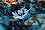 Custom Nike Reverse Tie Dye Hoodies in Black / Blue