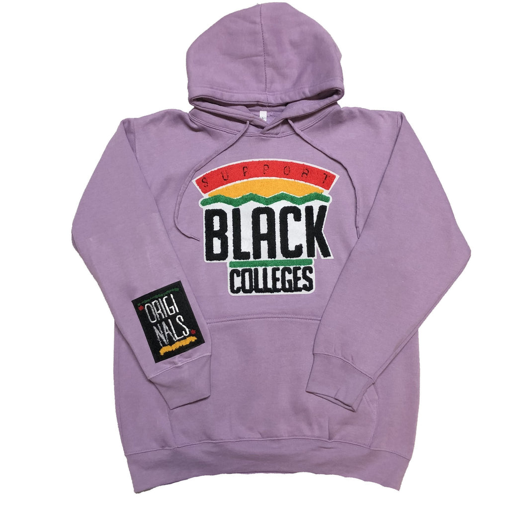 "Originals ""Support Black College"" Hoodie in Pastel Purple"