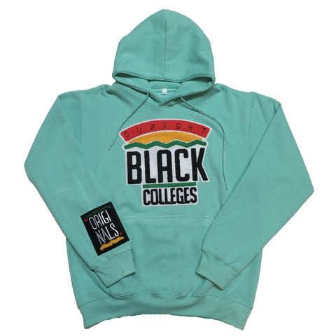 "Originals ""Support Black College"" Hoodie in Turuoise"