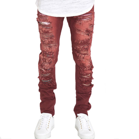 CRYSP Jimmy Denim Jeans In Burgundy