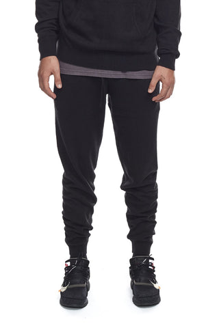 Knit Jogger Sweatpants in Black