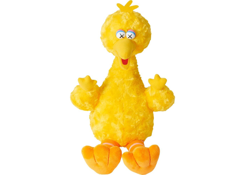 Kaws Sesame Street Uniqlo Big Bird Plush Toy Yellow