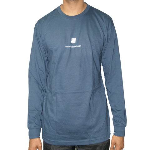 Undefeated Officially Licensed Product Long Sleeve Tee In Navy