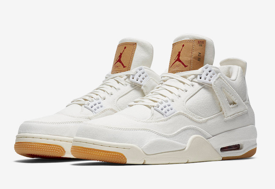 Levi's X Air Jordan 4 White Denim (Levi's Tag)