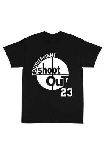 "SHOOT OUT ""MOTAW"" Name & Number Tee Shirt in Black"