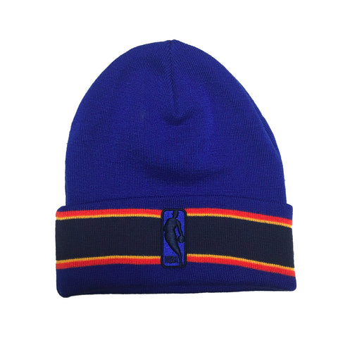 Mitchell & Ness Oklahoma City Thunder League Team Stripe Beanie In Royal