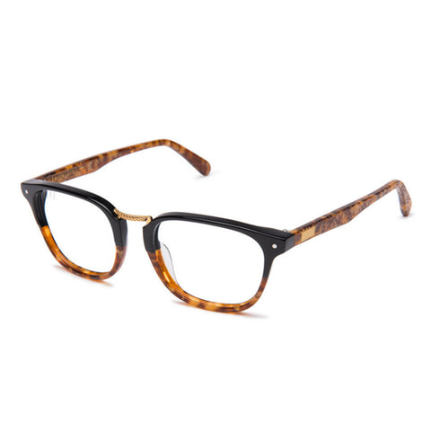 The Olson Amber Snake Clear Lens Reader Glasses