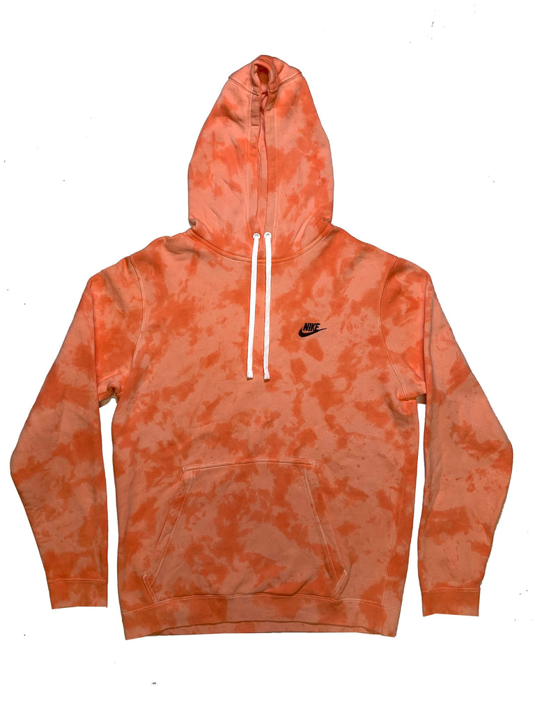 "Nike X Jeffersons Custom Tonal Tie Dye Washed Hoodie ""PEACH"""