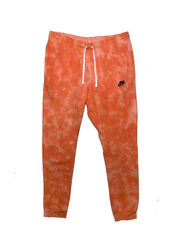 "Nike X Jeffersons Custom Tonal Tie Dye Washed Jogger Sweatpant ""PEACH"""