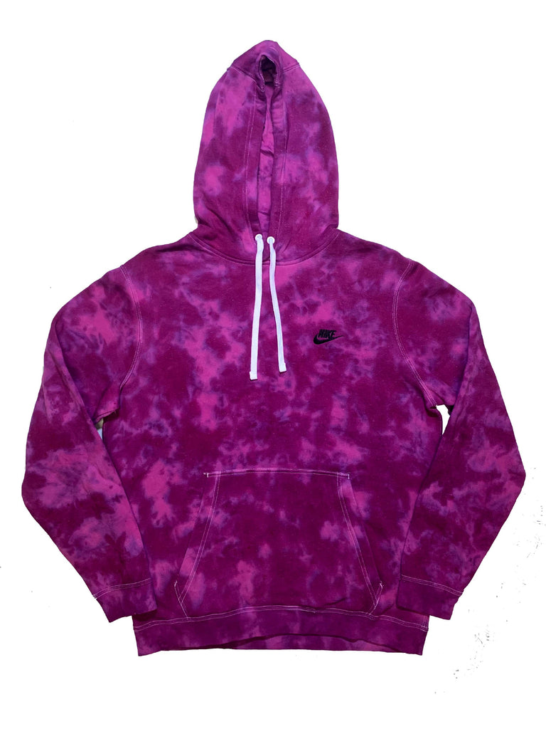 "Nike X Jeffersons Custom Tonal Tie Dye Washed Hoodie ""PURPLE HAZE"""