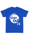 "SHOOT OUT ""SHEPARD"" Name & Number Tee Shirt in Royal Blue"