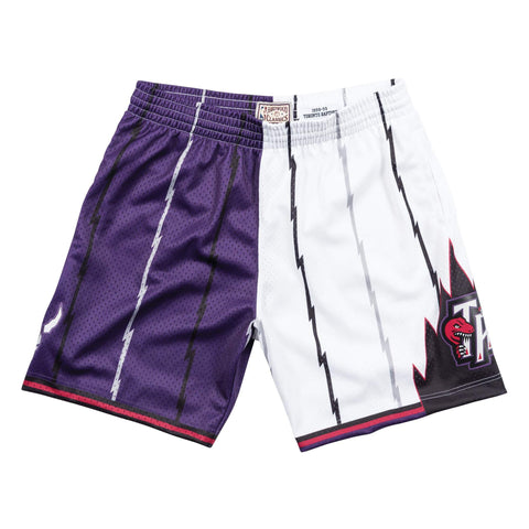 Mitchell & Ness Split Home & Away Swingman Shorts Toronto Raptors 1998-99