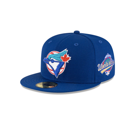 "New Era Toronto Blue Jays 1993 World Series Collection Sidepatch ""GREY BOTTOM"" 59Fifty Fitted Cap"