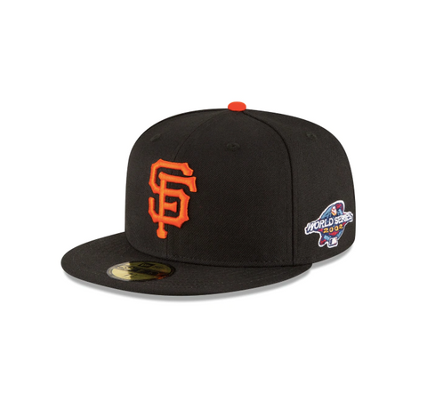 "New Era San Francisco Giants 2002 World Series Collection Sidepatch ""GREY BOTTOM"" 59Fifty Fitted Cap"