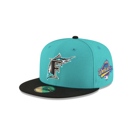 "New Era Florida Marlins 1997 World Series Collection Sidepatch ""GREY BOTTOM"" 59Fifty Fitted Cap"