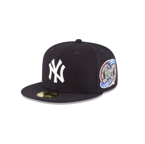"New Era New York Yankees 2000 Subway Series Collection Sidepatch ""GREY BOTTOM"" 59Fifty Fitted Cap"
