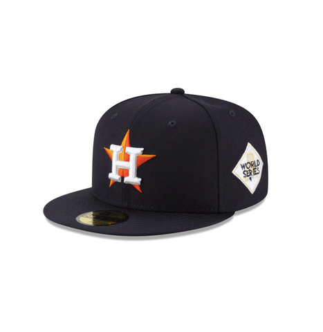 "New Era Houston Astros 2017 World Series Collection Sidepatch ""GREY BOTTOM"" 59Fifty Fitted Cap"