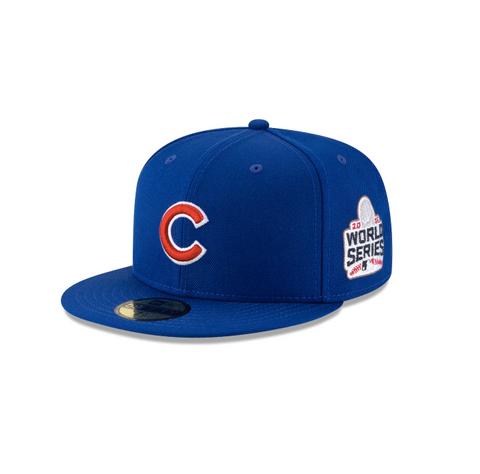 "New Era Chicago Cubs 2016 World Series Collection Sidepatch ""GREY BOTTOM"" 59Fifty Fitted Cap"
