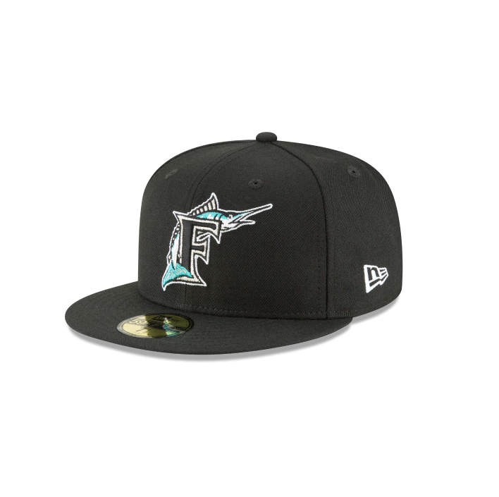 "New Era Florida Marlins ""GREY BOTTOM"" 59Fifty Fitted Cap"