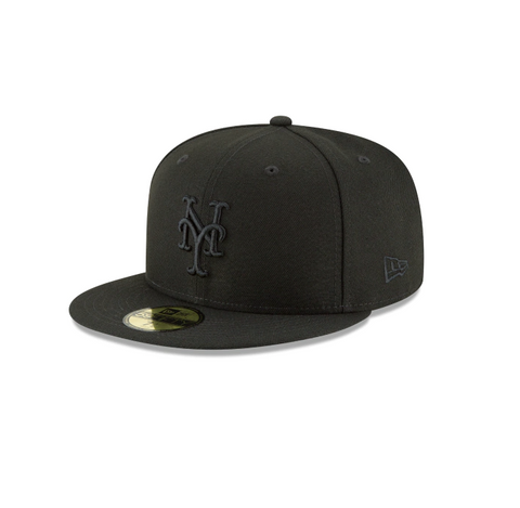 New Era New York Mets MLB Black on Black 59FIFTY Fitted Cap