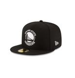 New Era Golden State Warriors NBA Fitted Cap in Black/White