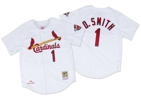 Mitchell & Ness Ozzie Smith 1992 Authentic Jersey St. Louis Cardinals In White