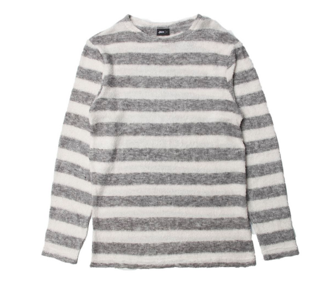 Publish Milian Knitted L/S Tee In White