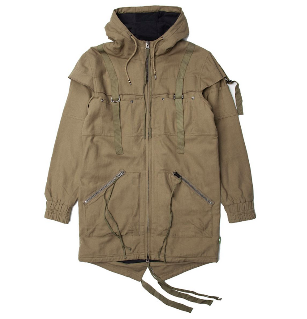 Publish Radik Woven Jacket In Olive