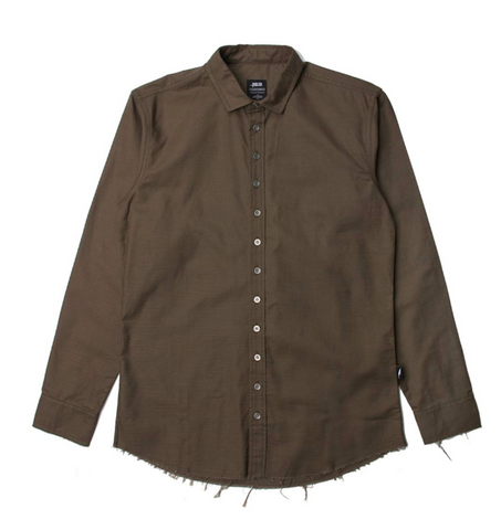 Publish Xander Button Up In Olive