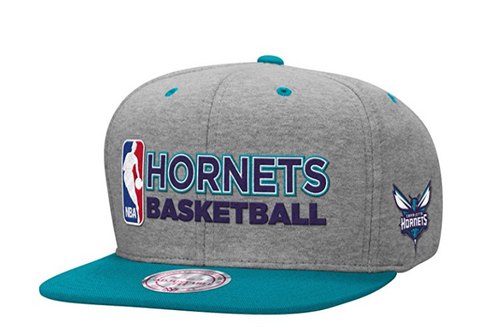 Mitchell & Ness Charlotte Hornets Heather Jersey Snapback In Grey/Black