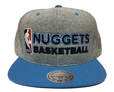 Mitchell & Ness Denver Nuggets Heather Jersey Snapback In Grey/Black