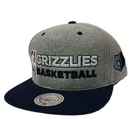 Mitchell & Ness Memphis Grizzlies Heather Jersey Snapback In Grey/Black