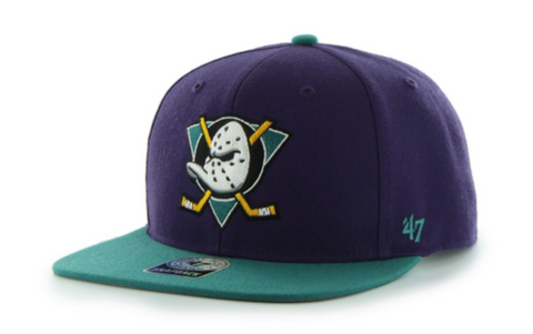 Forty Seven Brand Anaheim Ducks Sure Shot 2-Tone Snapback In Purple