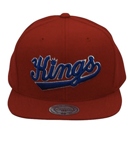 Mitchell And Ness NBA Throwback Sacramento Kings Snapback Hat Red