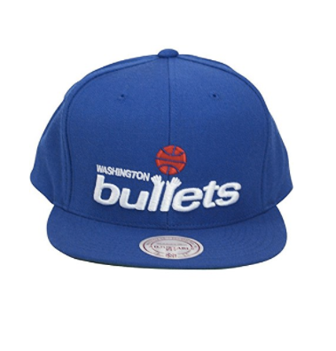 Mitchell And Ness Mitchell And Ness Retro Script Washington Bullets Snapback Hat Blue