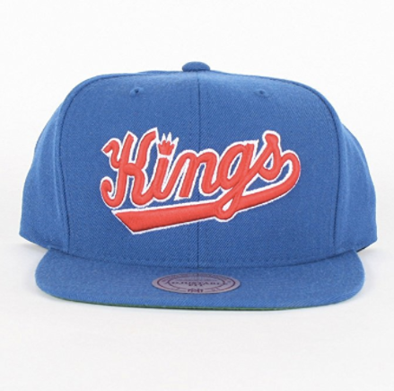 Mitchell & Ness Sacramento Kings Wool Solid Snapback In Blue