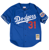 Mitchell & Ness Mike Piazza 1997 Authentic Mesh BP Jersey Los Angeles Dodgers