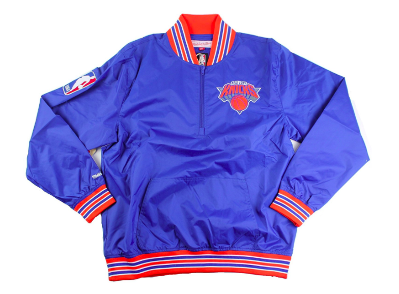 1/4 Zip Nylon Pullover New York Knicks