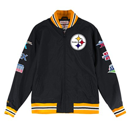 Mitchell & Ness Pittsburgh Steelers Team History Warm up Jacket