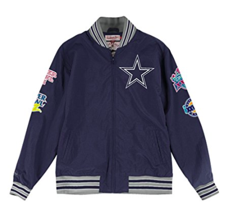 Mitchell & Ness Dallas Cowboys Team History Warm up Jacket